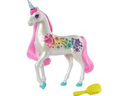 Barbie Dreamtopia Regenbogen-Königreich Magisches Haarspiel Einhorn, Pferde Spielzeug