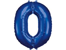 Folienballon 0, blau