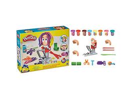 Play-Doh Verrückter Freddy Friseur Haarsalon, Spielset  mit 8 dreifarbigen Play-Doh Dosen à 56 g