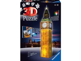 3D-Puzzle Night mit LED, H44 cm, 216 Teile, Big Ben bei Nacht