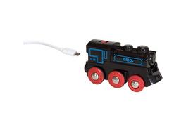 Schwarze Akku-Lok mit Mini-USB