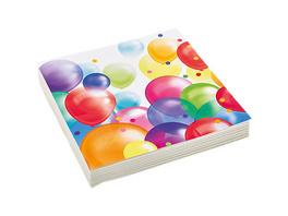 Servietten Ballons 33 cm, 16 Stück