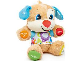 Fisher-Price Lernspaß Hündchen, Baby-Spielzeug mit Musik, Kuscheltier, Lernspielzeug