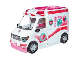 Barbie Krankenwagen 2-in-1 Spielset mit Licht & Geräuschen, Barbie Krankenhaus