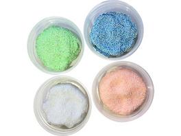 Perlen-Knete Glitter, 4er Pack à 33g